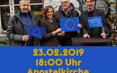 Veranstaltungstipp: Europa-Diskussion in der Apostelkirche