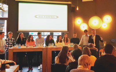 Aktiv werden für Europa: Junge Menschen diskutierten beim Europa-Talk in der Weberei