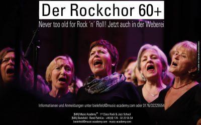 Neues Angebot der Music Academy Bielelfeld in der Weberei: Rockchor 60+