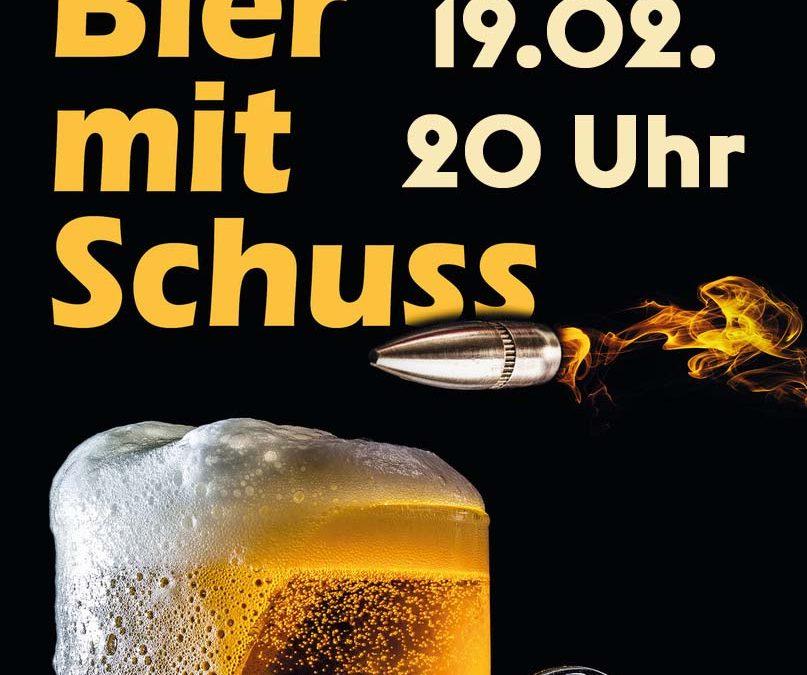 Lesung Bier mit Schuss
