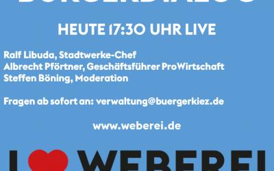 Bürgerdialog am 15.04.2020 um 17:30 Uhr