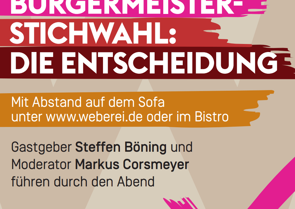 Bürgerdialog Spezial: Bürgermeister-Stichwahl