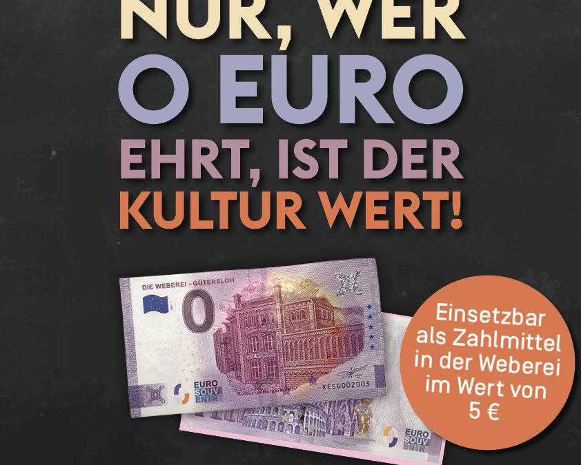 Null-Euro-Weberei-Schein
